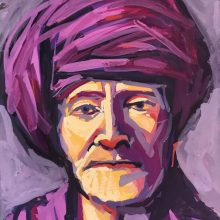 man in a purple turban